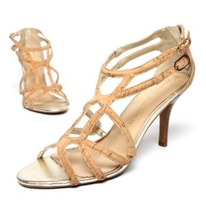 MARC FISHER Strappy Heels Cork Finish